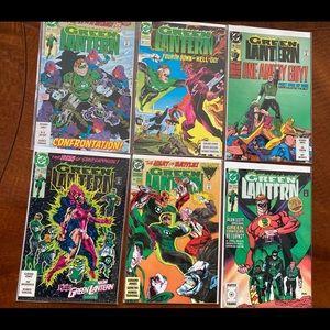 Lot of 6 green lantern comics